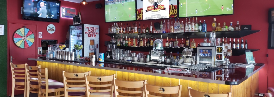 sports bar with tv screens