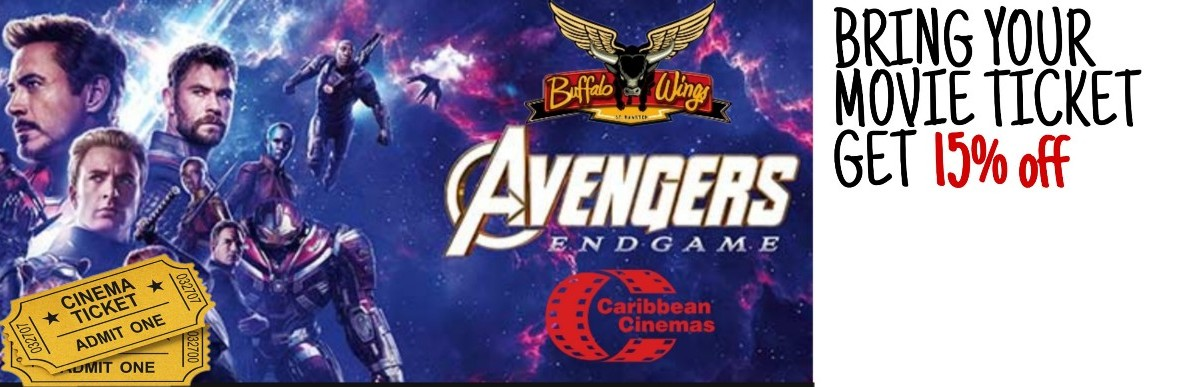 Avengers endgame poster with movie deal